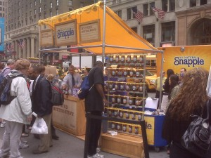 Snapple stand at Penn Station