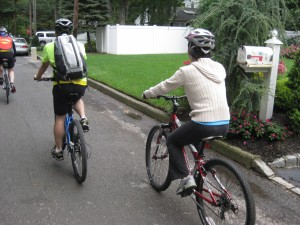 Lisa and her brother Jack biking for Seeing Eye Dog Foundation.