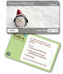TisBest charitable gift card