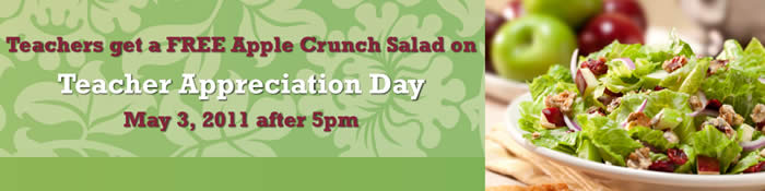 free apple crunch salad cosi