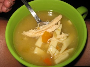 chicken chunks in soup