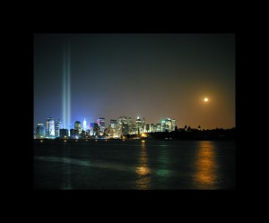 twin tower lights 911 tribute