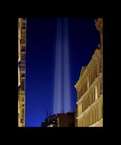 world trade center lights tribute 911