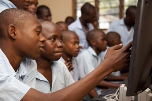 africa students using computers