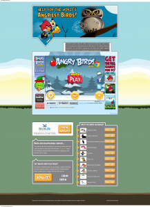 angry birds page
