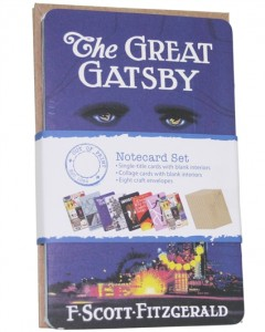 great gatsby literature note cards