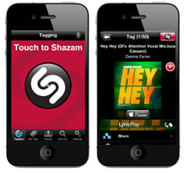 find unknown song lyrics and names with shazam