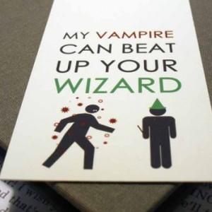 vampire wizard bookmark