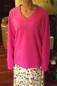 kohl's pink fleece shirt