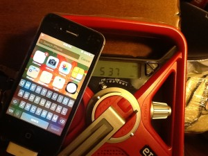 eton radio charging iphone